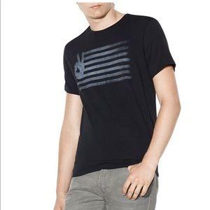 John Varvatos Shirts - John Varvatos Peace Flag Graphic Print Tee